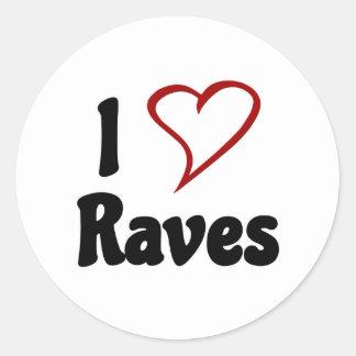 I Love Raves Classic Round Sticker