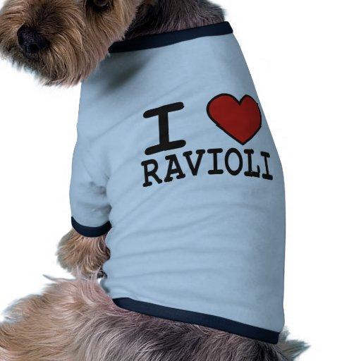 I Love Ravioli Dog Clothing