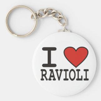I Love Ravioli Keychain