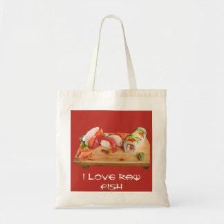 I Love Raw Fish Canvas Bag