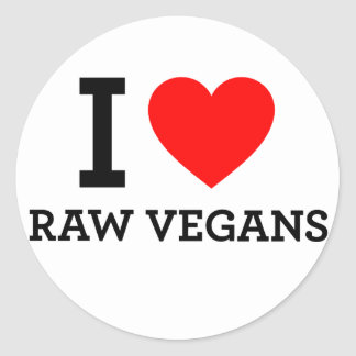 I Love Raw Vegans Stickers