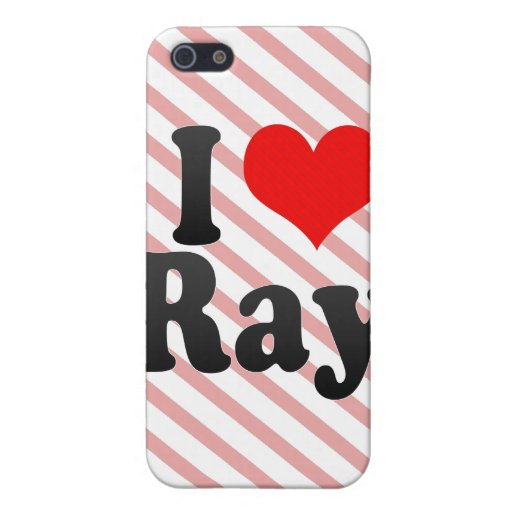 I love Ray iPhone 5 Covers