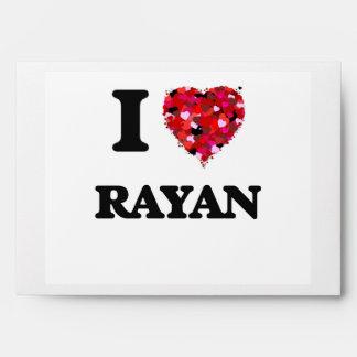 I Love Rayan Envelopes