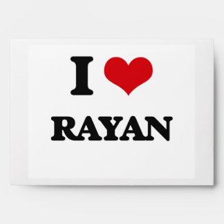 I Love Rayan Envelope