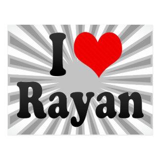 I love Rayan Postcard