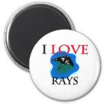 I Love Rays Fridge Magnets