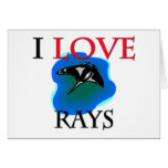 I Love Rays Greeting Card
