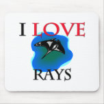 I Love Rays Mouse Pad