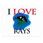 I Love Rays Postcard