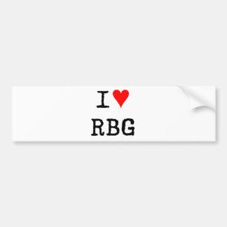 i love rbg bumper sticker