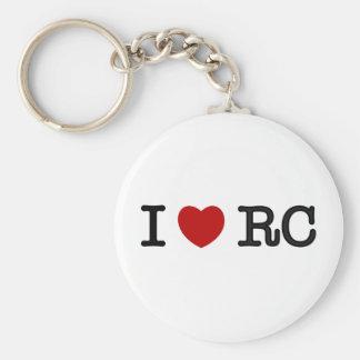 I Love RC Basic Round Button Keychain