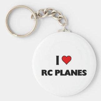 I love RC Planes Basic Round Button Keychain