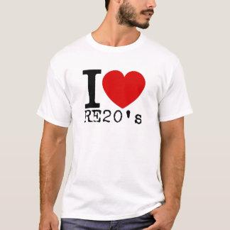 I Love RE20's (Black) T-Shirt