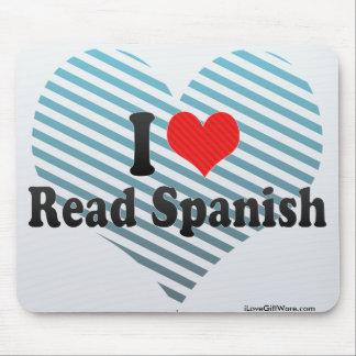 I Love Read Spanish Mouse Pad