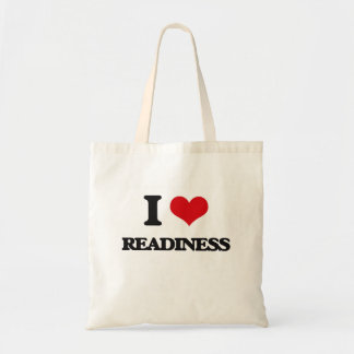 I Love Readiness Budget Tote Bag
