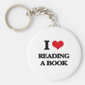I love Reading A Book Basic Round Button Keychain