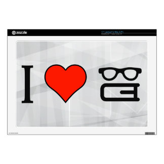 """I Love Reading Books 17"""" Laptop Decals"""