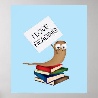 i love reading bookworm framed print