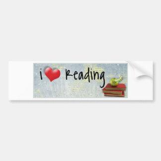 I Love Reading Bumper Sticker