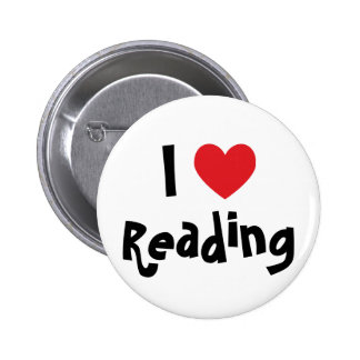 I Love Reading Pinback Button