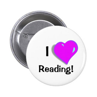 I love Reading! Button 2 Inch Round Button