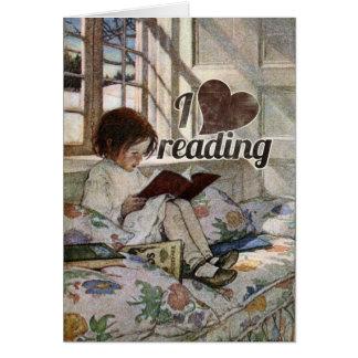I Love Reading Card