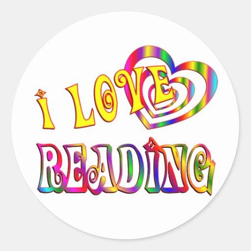 I Love Reading Classic Round Sticker