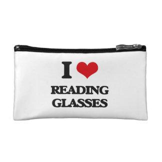 I Love Reading Glasses Cosmetics Bags