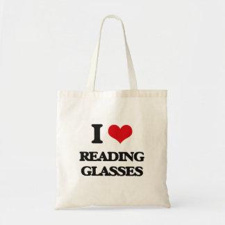 I Love Reading Glasses Bags
