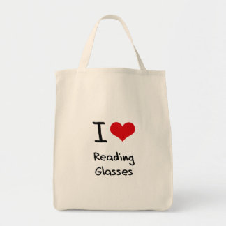 I Love Reading Glasses Canvas Bags