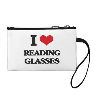 I Love Reading Glasses Coin Purse