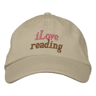 I Love Reading Hat Embroidered Baseball Cap