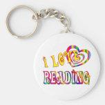 I Love Reading Key Chain