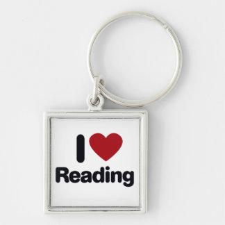 I Love reading Keychain