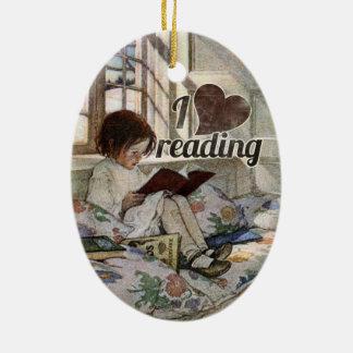 I Love Reading Christmas Ornaments