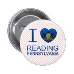 I Love Reading, PA Pinback Button