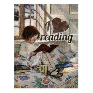 I Love Reading Postcard