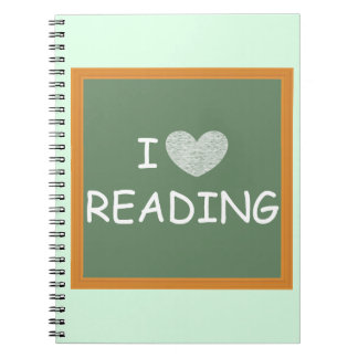 I Love Reading Spiral Notebook