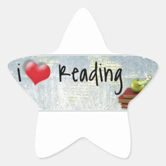 I Love Reading Star Sticker