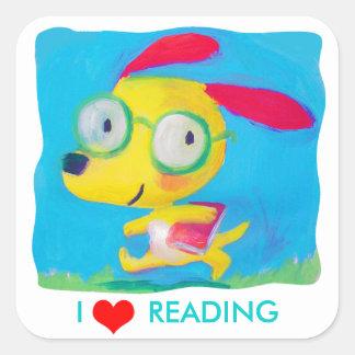 I love reading square sticker