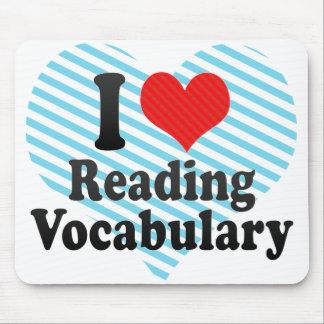 I Love Reading Vocabulary Mouse Pad