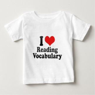 I Love Reading Vocabulary T Shirt