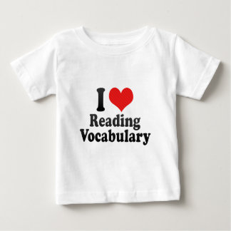 I Love Reading Vocabulary T-shirts