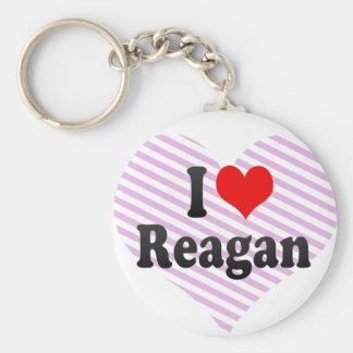 I love Reagan Basic Round Button Keychain