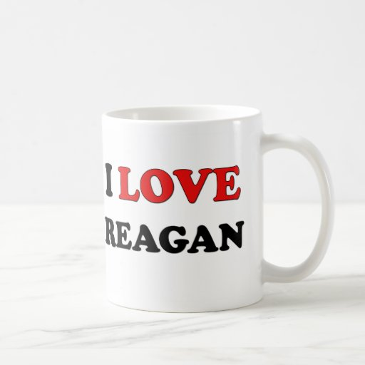 I Love Reagan Classic White Coffee Mug