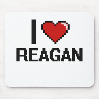 I Love Reagan Digital Retro Design Mouse Pad