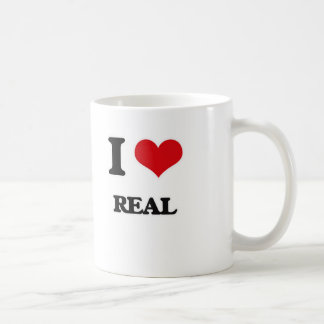 I Love Real Coffee Mug