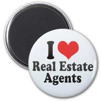 I Love Real Estate Agents Magnet