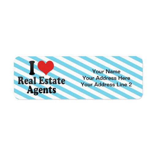 I Love Real Estate Agents Return Address Label