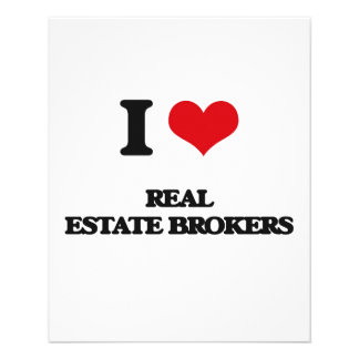 I love Real Estate Brokers Personalized Flyer